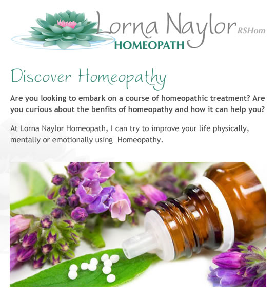 Lorna Naylor Homeopath. Practicing in Rossendale, Lancashire offering Homeopathic treatments and holistic medicine.